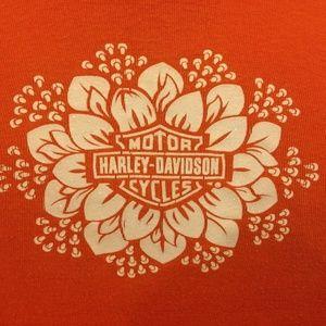 Harley Davidson Shirt Motorcycle Baltimore Orange